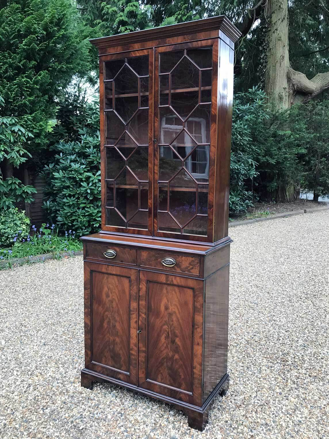 Victorian Mahogany Bookcase Cupboard Richmond Hill Antiques